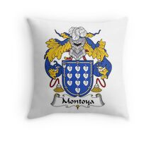 Montoya Coat of Arms/Family Crest Throw Pillow
