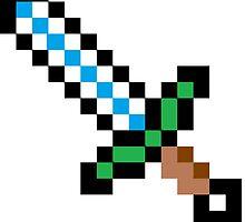Minecraft Diamond Sword by callmeJkay