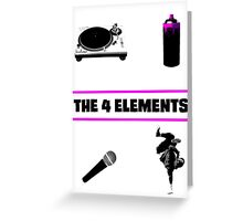 The 4 Elements Greeting Card