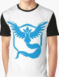 Team Mystic - Grunge Light Blue Graphic T-Shirt