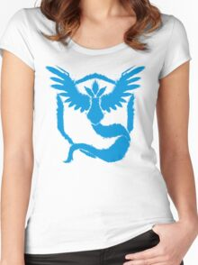 Team Mystic - Grunge Light Blue Women's Fitted Scoop T-Shirt