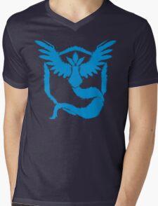 Team Mystic - Grunge Light Blue Mens V-Neck T-Shirt