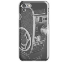 Black Vintage Video Camera iPhone Case/Skin