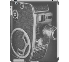 Black Vintage Video Camera iPad Case/Skin