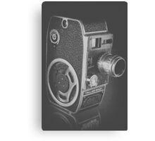 Black Vintage Video Camera Canvas Print