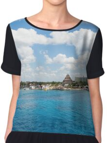 Coast of Cozumel  Chiffon Top