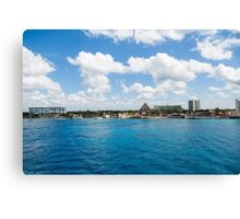 Coast of Cozumel  Canvas Print
