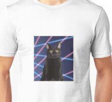 80'S LASER BACKGROUND CAT Unisex T-Shirt