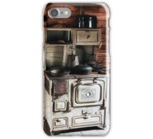 Antique Stove in Wooden House iPhone Case/Skin