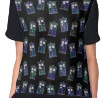Mini TARDIS Pattern Chiffon Top