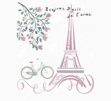 Bonjour Paris - Tween Bedroom Decor Kids Tee