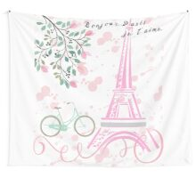 Bonjour Paris - Tween Bedroom Decor Wall Tapestry