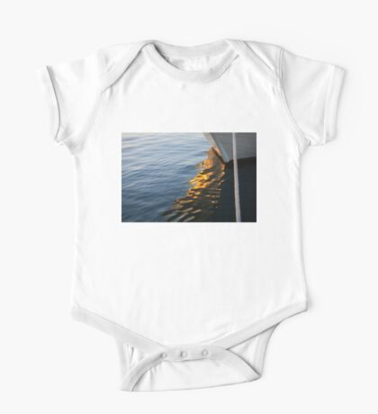 Reflecting on Yachts and Sunsets One Piece - Short Sleeve
