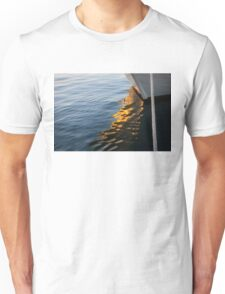 Reflecting on Yachts and Sunsets Unisex T-Shirt