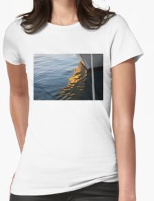Reflecting on Yachts and Sunsets Womens Fitted T-Shirt