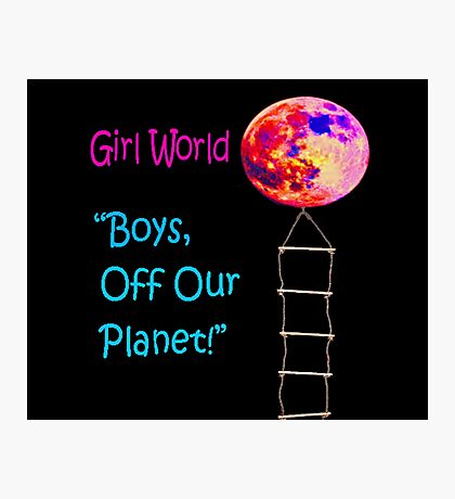 Girl World Photographic Print