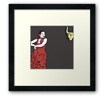 Flamenco Free Framed Print