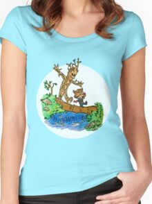 Groot and Rocket Women's Fitted Scoop T-Shirt