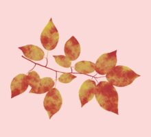 Orange Cherry Leaf Art Kids Tee
