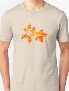 Orange Cherry Leaf Art Unisex T-Shirt