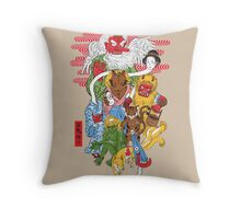 Monster Parade Throw Pillow