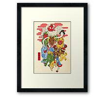Monster Parade Framed Print