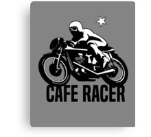 Cafe Racer Vintage Retro Motorcycle Canvas Print