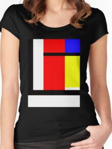 blocky style Women's Fitted Scoop T-Shirt
