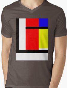 blocky style Mens V-Neck T-Shirt