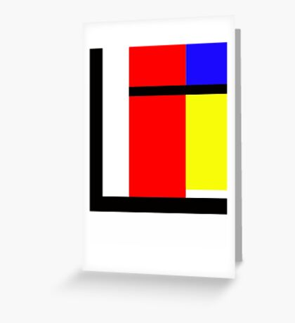 blocky style Greeting Card