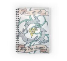 Above It All, Sing The Sorrow Spiral Notebook