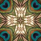 Peacock Love | Geometric Pattern by webgrrl