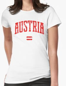 Austria (Red Print) Womens Fitted T-Shirt