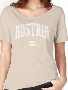 Austria (White Print) Women's Relaxed Fit T-Shirt