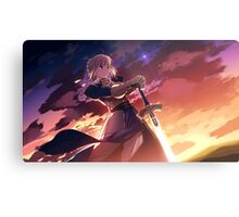Fate/stay night: Unlimited Blade Works Saber Metal Print