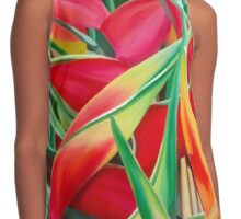 Insanely Lush Scarlet Tropical Contrast Tank