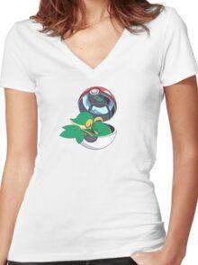 SnivyBall Women's Fitted V-Neck T-Shirt