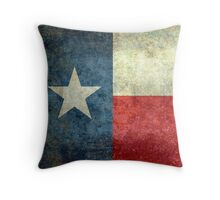 "The ""Lone Star Flag"" of The Lone State Texas Throw Pillow"