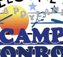 Welcome to Camp Monroe Sticker