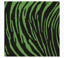 Green Tiger Stripes  Baby Tee