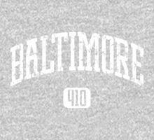 Baltimore 410 (White Print) One Piece - Long Sleeve