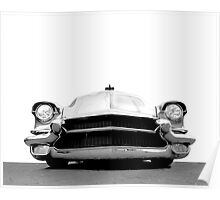 1956 Cadillac - high contrast Poster