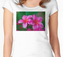Pink Plumeria 1073 Women's Fitted Scoop T-Shirt