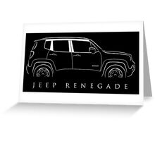 Jeep Renegade - stencil Greeting Card