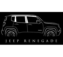 Jeep Renegade - stencil Photographic Print