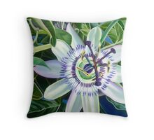 Dreamy Tropical Passion Flower Throw Pillow