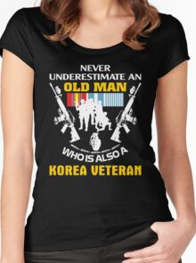 Korean War Veteran Shirt - Best Gift For Veteran Day Women's Fitted Scoop T-Shirt