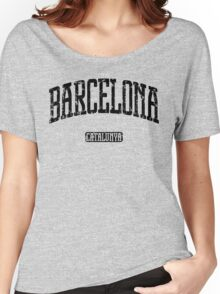 Barcelona (Black Print) Women's Relaxed Fit T-Shirt