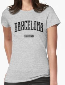 Barcelona (Black Print) Womens Fitted T-Shirt
