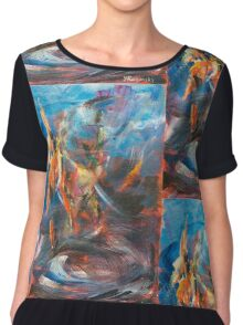 Dancer original abstract acrylic painting. Chiffon Top
